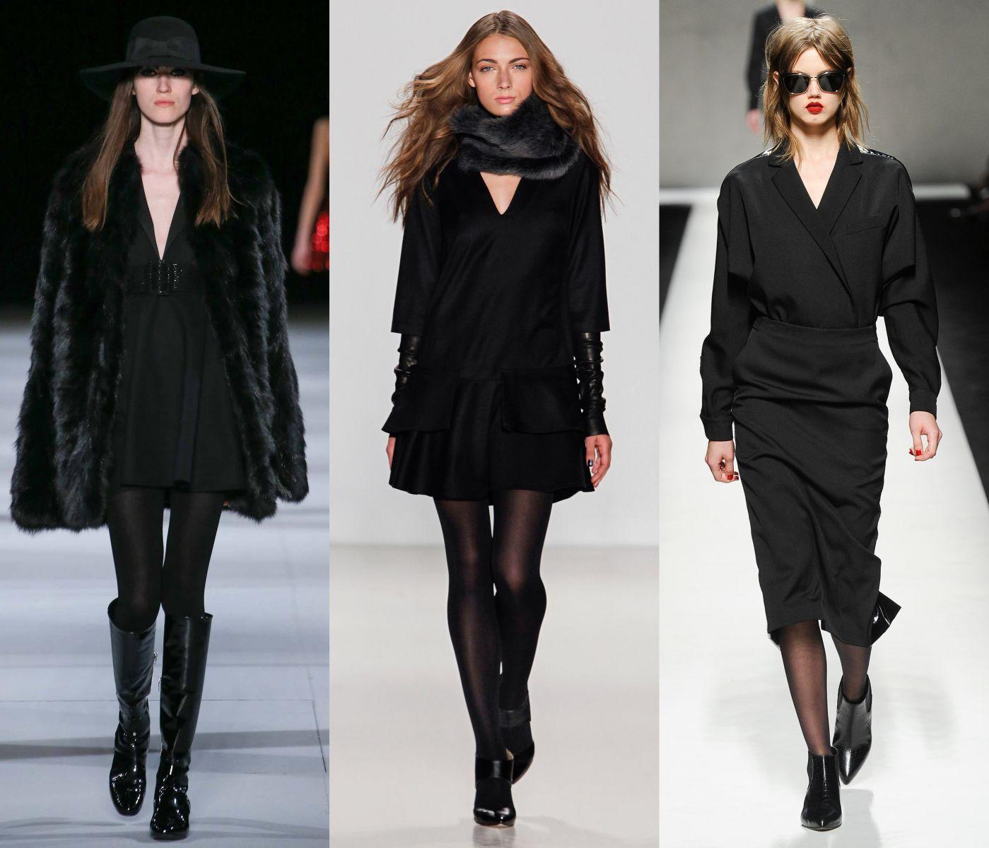 Черное платье какие колготки 15 фотография