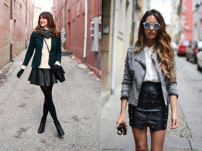 Черные короткие юбки с чем носить фото