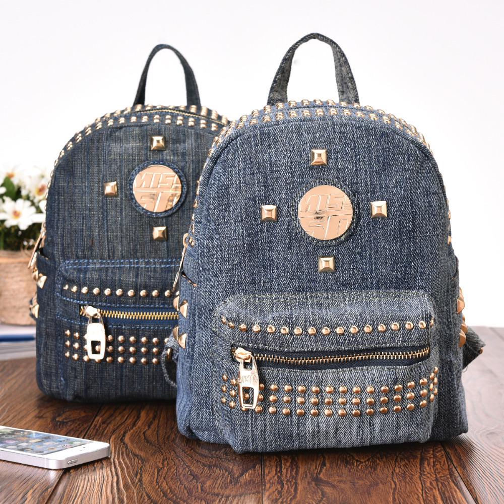 2015-New-Vintage-Fashion-Denim-Small-Multipurpose-Rivet-font-b-Backpacks-b-font-School-Bags-Jeans